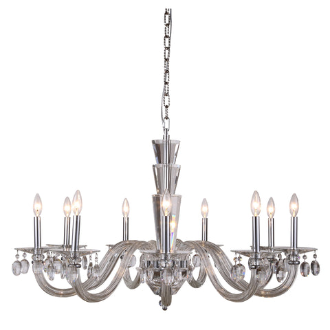 "Augusta 39"" Diam Chandelier, Chrome Finish"