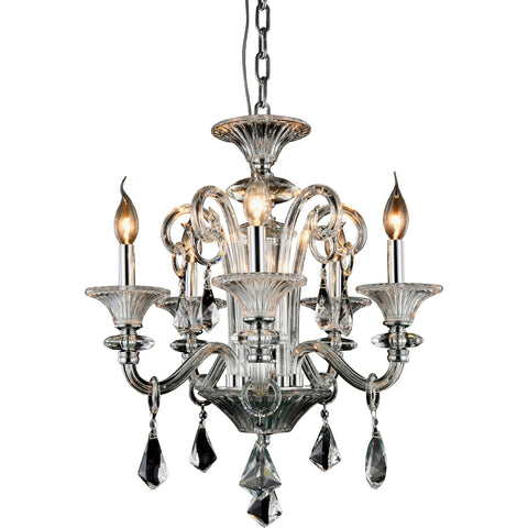 "Aurora 20"" Diam Chandelier, Chrome Finish"