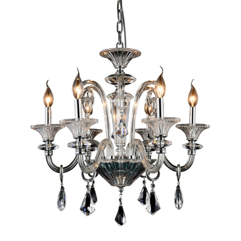 "Aurora 24"" Diam Chandelier, Chrome Finish"