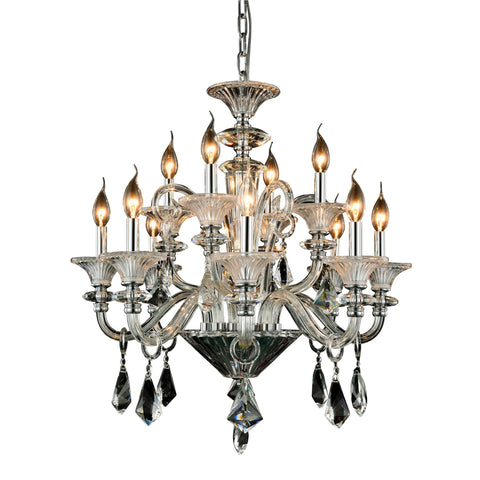 "Aurora 26"" Diam Chandelier, Chrome Finish"
