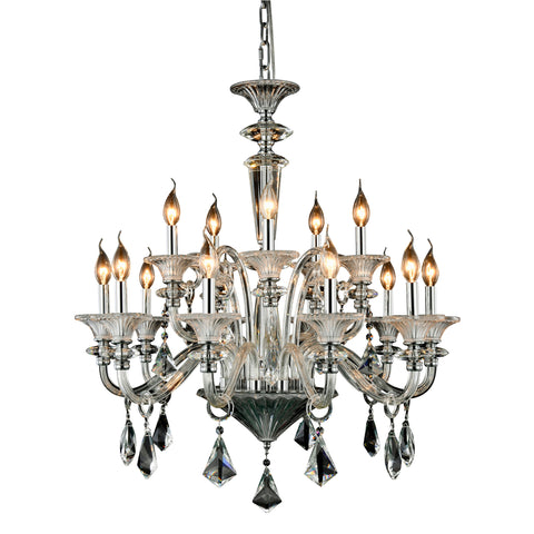 "Aurora 32"" Diam Chandelier, Chrome Finish"