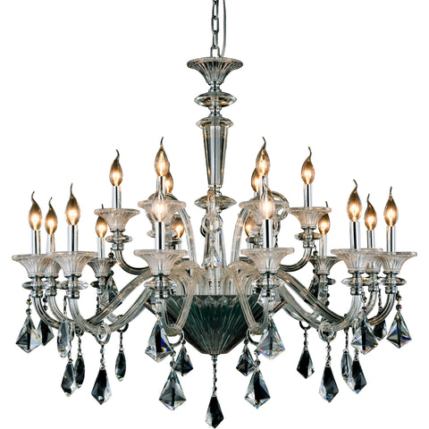"Aurora 40"" Diam Chandelier, Chrome Finish"
