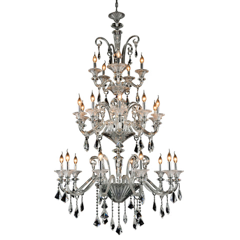"Aurora 42"" Diam Chandelier, Chrome Finish"
