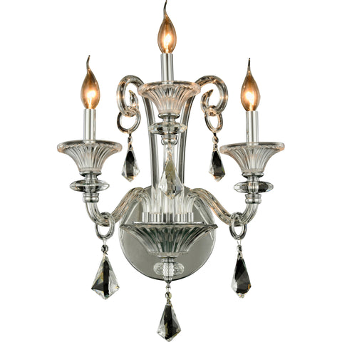 "Aurora 19"" W Wall Sconce, Chrome Finish"
