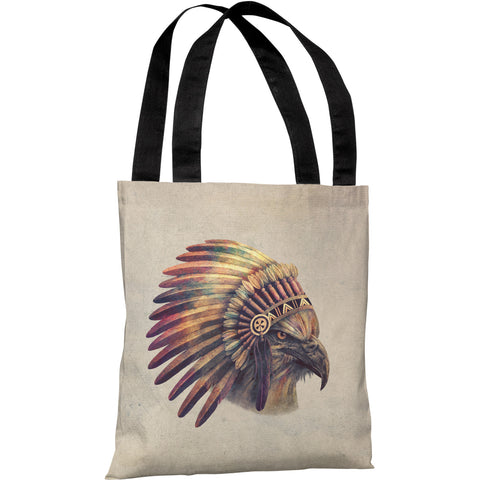 """Chief"" 18""x18"" Tote Bag by Terry Fan"