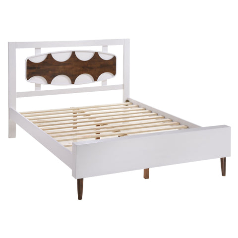 Seattle Queen Bed Walnut & White