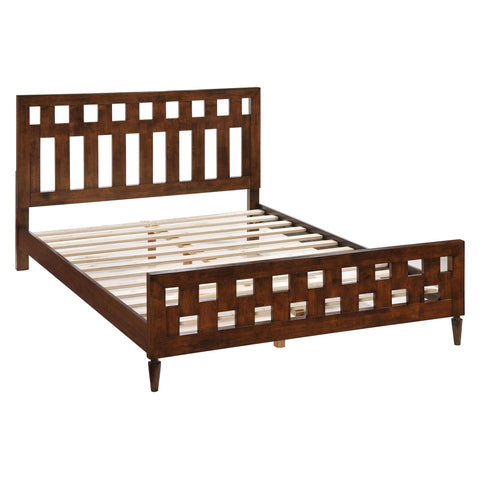 LA Queen Bed Walnut