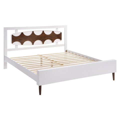 Seattle King Bed Walnut & White
