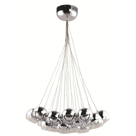 Cup Hanging Chandelier, Silver