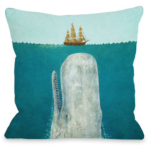 """The Whale"" Indoor Throw Pillow by Terry Fan, 16""x16"""