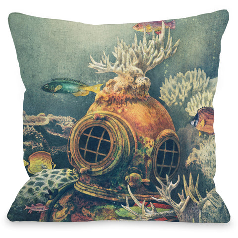 """Seachange"" Indoor Throw Pillow by Terry Fan, 16""x16"""
