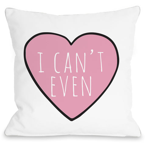 """Convo Heart I Can't Even"" Indoor Throw Pillow by OneBellaCasa, 16""x16"""