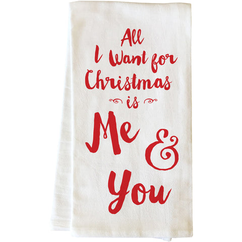 """All I Want For Christmas"" Tea Towel by OneBellaCasa"