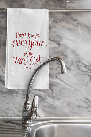 """Nice List"" Tea Towel by OneBellaCasa"
