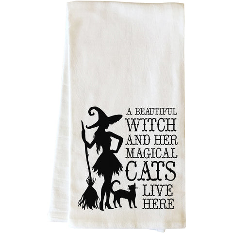 """Beautiful Witch"" Tea Towel by OneBellaCasa"