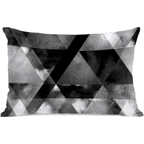 """Dark And Stormy"" Outdoor Throw Pillow by OneBellaCasa, 14""x20"""