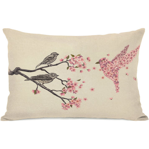 """Blossom Bird"" Indoor Throw Pillow by Terry Fan, 14""x20"""