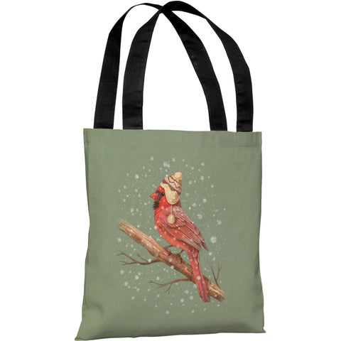 """First Snow"" 18""x18"" Tote Bag by Terry Fan"