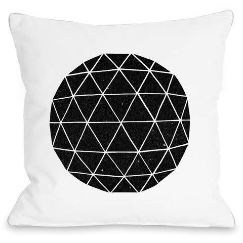 """Geodesic"" Indoor Throw Pillow by Terry Fan, 16""x16"""
