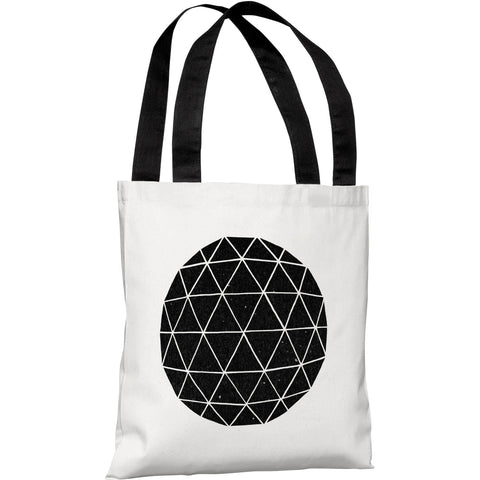 """Geodesic"" 18""x18"" Tote Bag by Terry Fan"