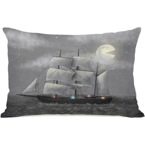 """Ghost Ship"" Indoor Throw Pillow by Terry Fan, 14""x20"""