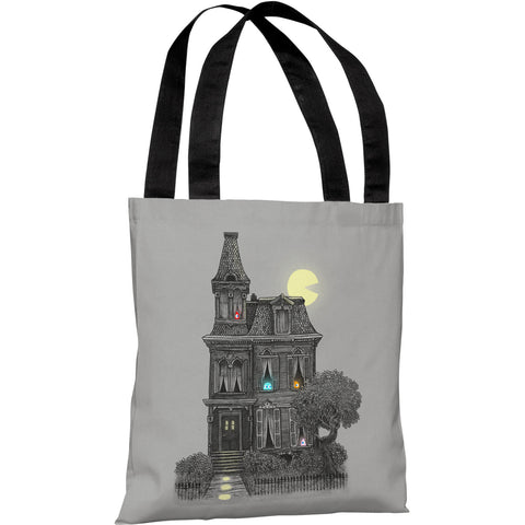 """Haunted by the 80's"" 18""x18"" Tote Bag by Terry Fan"