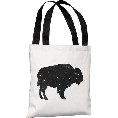 """Mystic Buffalo"" 18""x18"" Tote Bag by Terry Fan"