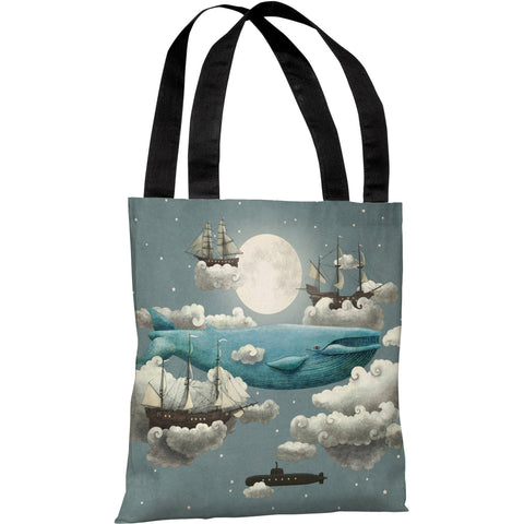 """Ocean Meets Sky"" 18""x18"" Tote Bag by Terry Fan"