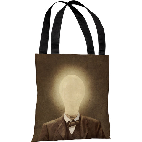 """The Idea Man"" 18""x18"" Tote Bag by Terry Fan"