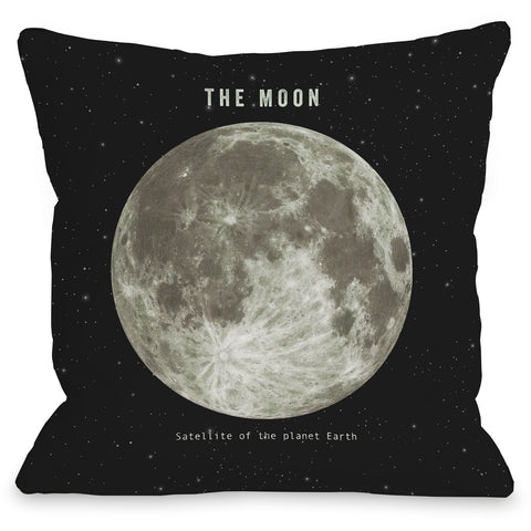 """The Moon"" Indoor Throw Pillow by Terry Fan, 16""x16"""