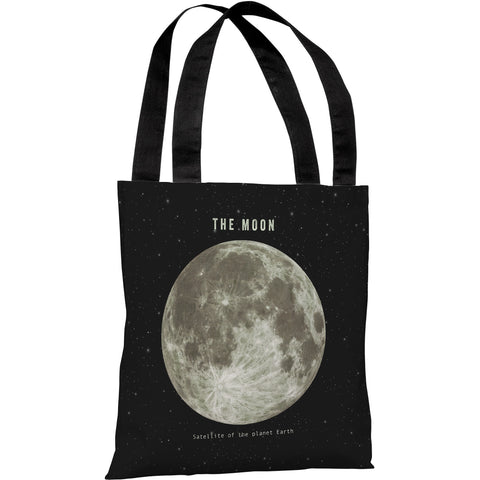 """The Moon"" 18""x18"" Tote Bag by Terry Fan"