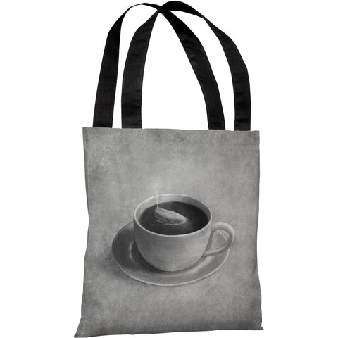 """Whale In A Teacup"" 18""x18"" Tote Bag by Terry Fan"
