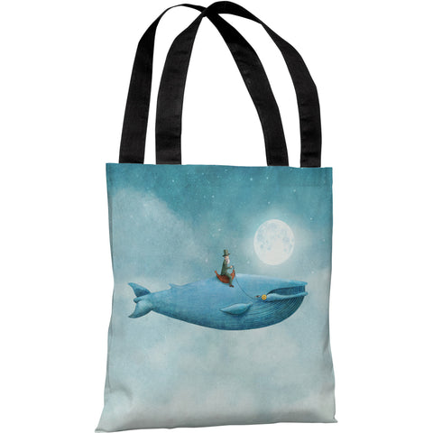 """Whale Rider"" 18""x18"" Tote Bag by Terry Fan"