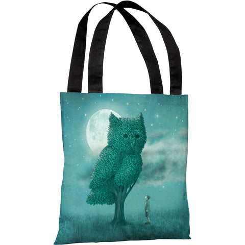 """The Night Gardener"" 18""x18"" Tote Bag by Terry Fan"