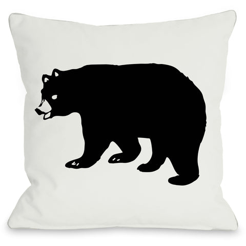 """Scary Bear"" Outdoor Throw Pillow by OneBellaCasa, 16""x16"""