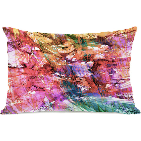 """Birds Of Prey Fashion Frenzy"" Outdoor Throw Pillow by Julia Di Sano, 14""x20"""