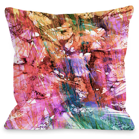 """Birds Of Prey Fashion Frenzy"" Outdoor Throw Pillow by Julia Di Sano, 16""x16"""