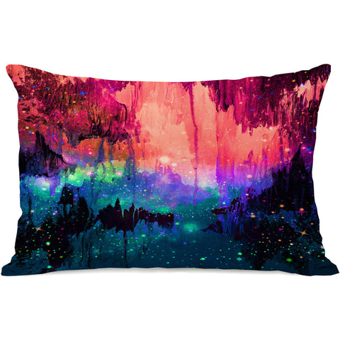 """Castles In The Mist"" Outdoor Throw Pillow by Julia Di Sano, 14""x20"""