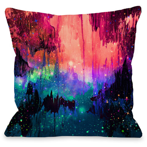 """Castles In The Mist"" Indoor Throw Pillow by Julia Di Sano, 16""x16"""