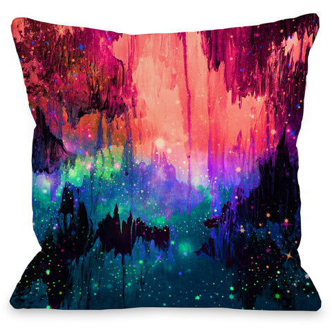 """Castles In The Mist"" Outdoor Throw Pillow by Julia Di Sano, 16""x16"""