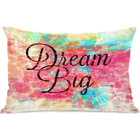 """Dream Big"" Outdoor Throw Pillow by Julia Di Sano, 14""x20"""