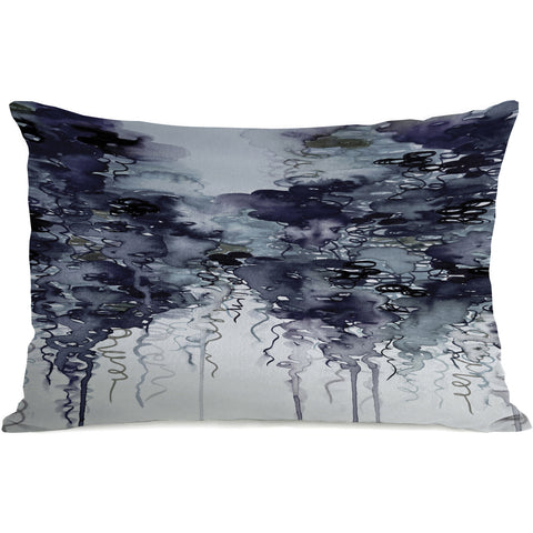 """Midnight Showers"" Outdoor Throw Pillow by Julia Di Sano, 14""x20"""