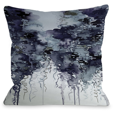 """Midnight Showers"" Outdoor Throw Pillow by Julia Di Sano, 16""x16"""