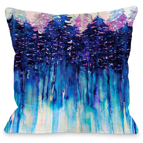 """Northwest Vibes"" Outdoor Throw Pillow by Julia Di Sano, 16""x16"""