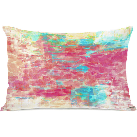 """Pastel Jungle"" Outdoor Throw Pillow by Julia Di Sano, 14""x20"""