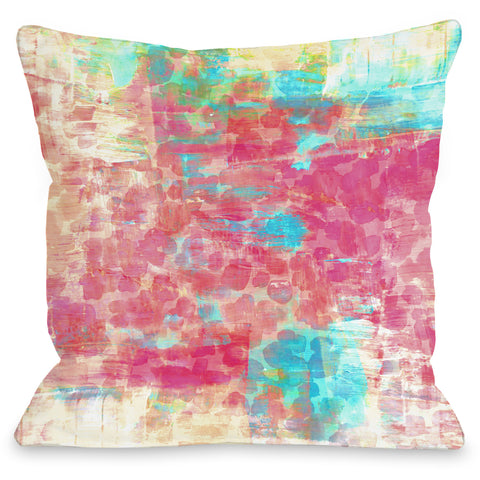"""Pastel Jungle"" Outdoor Throw Pillow by Julia Di Sano, 16""x16"""