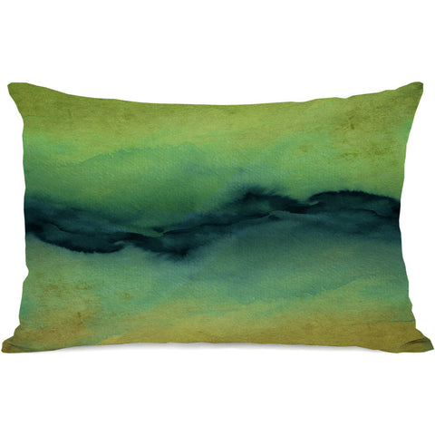 """The Vibe"" Outdoor Throw Pillow by Julia Di Sano, Golden Yellow/Teal, 14""x20"""