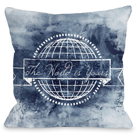 """The World Is Yours"" Outdoor Throw Pillow by Julia Di Sano, 16""x16"""
