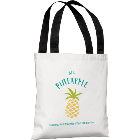 """Pine Trees Geo"" 18""x18"" Tote Bag by OneBellaCasa"