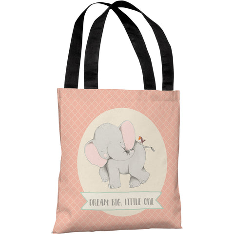 """Dream Big Little One"" 18""x18"" Tote Bag by Cheryl Overton"